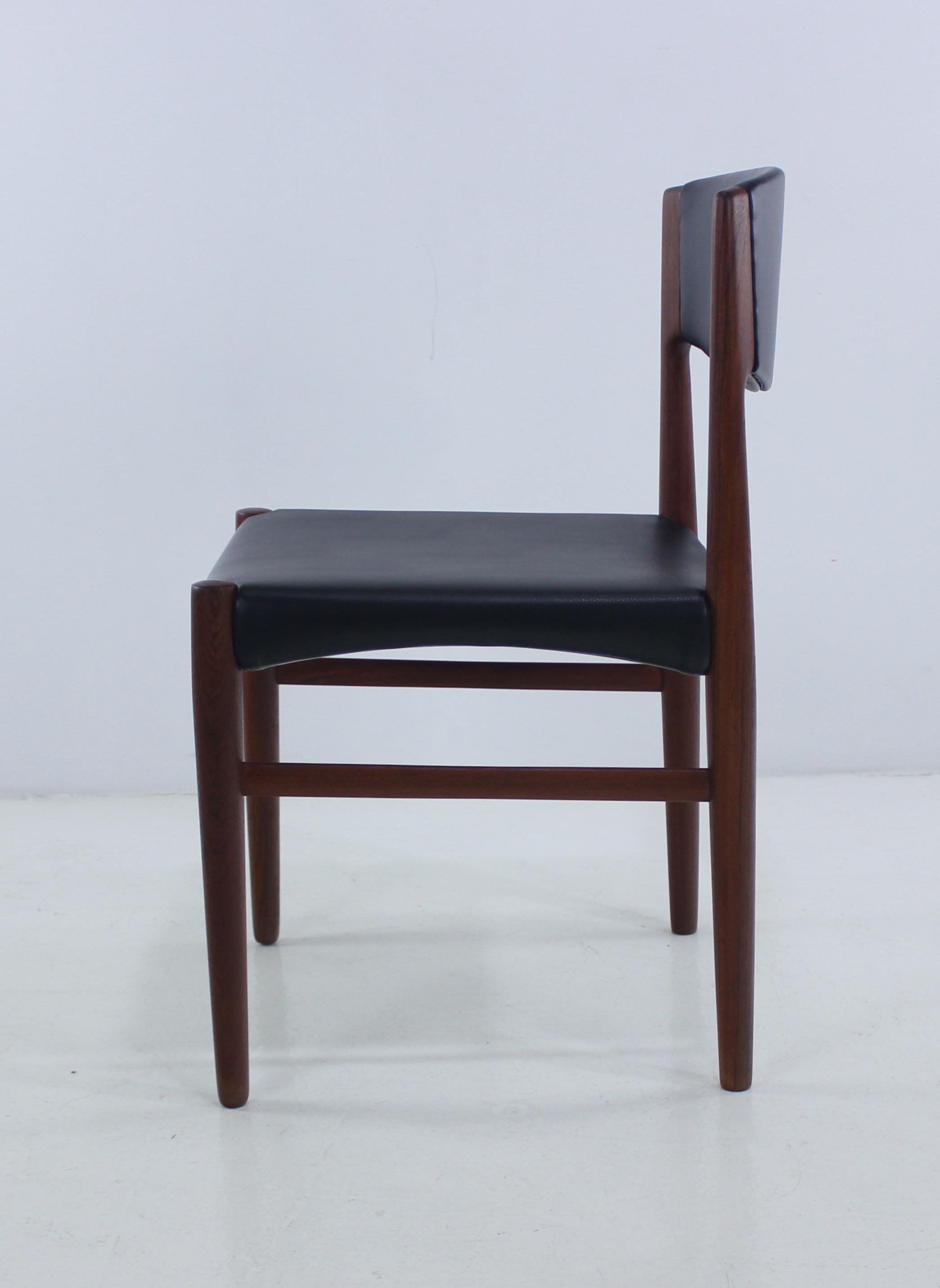 Set Of Six Danish Modern Teak Dining Chairs By Glostrup