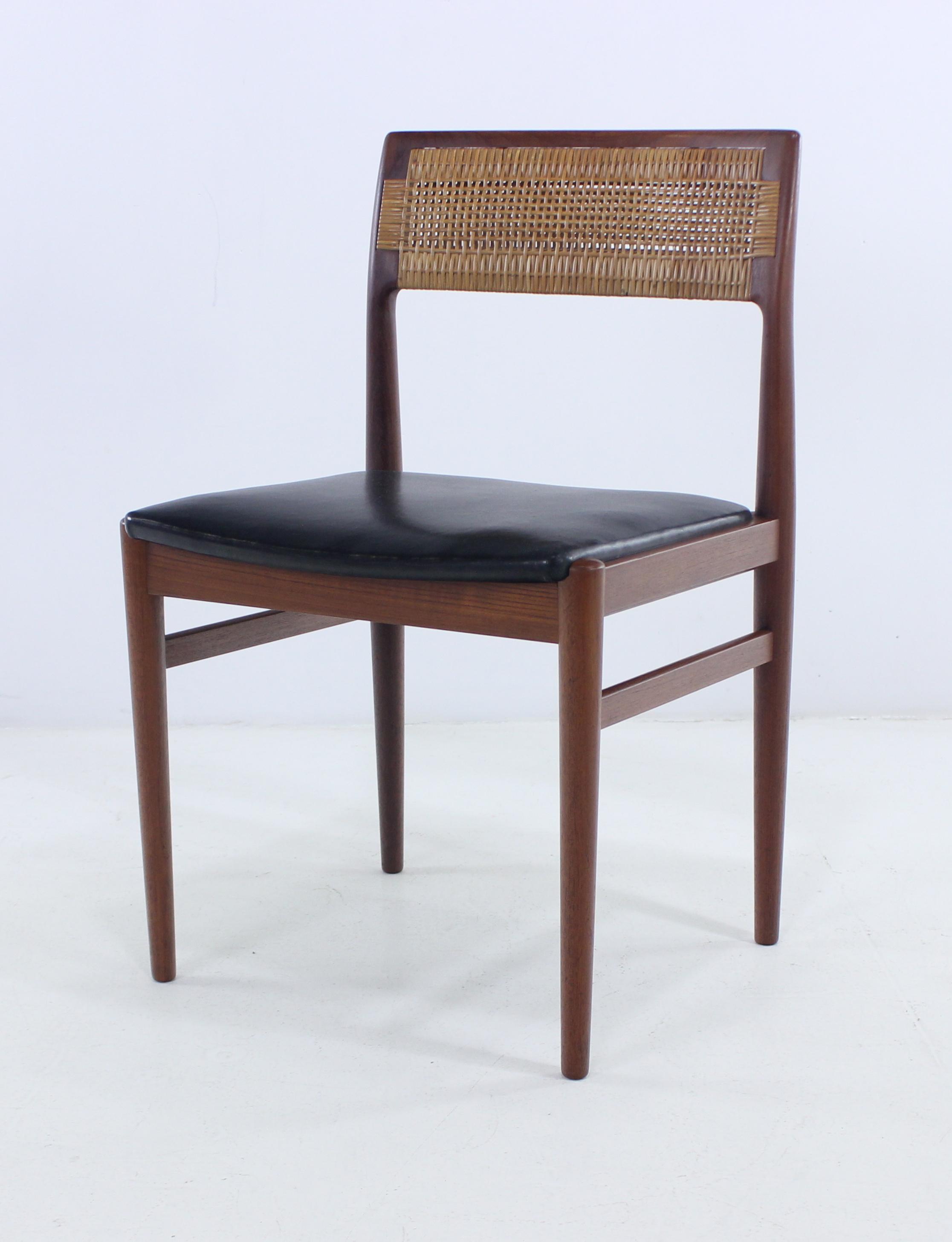 Set of Eight Distinctive Danish Modern Teak Dining Chairs Designed