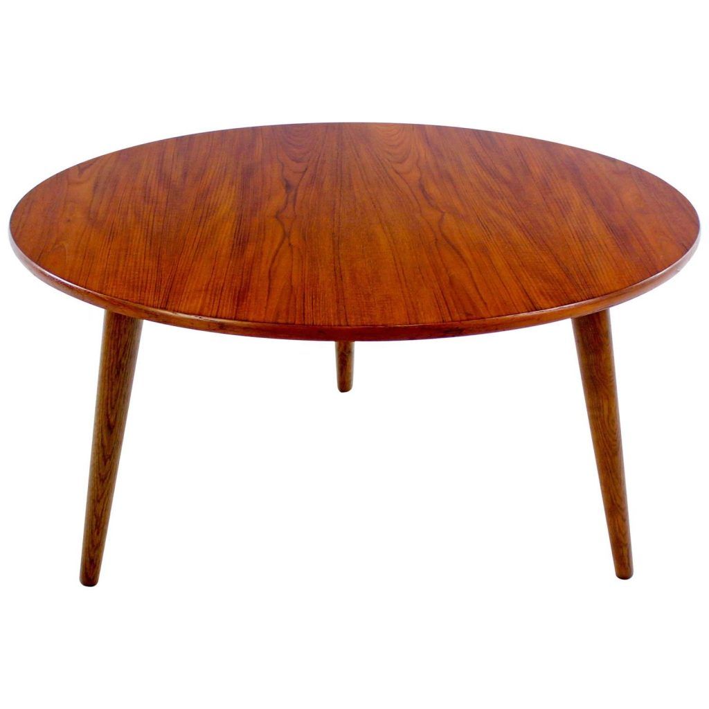 danish modern teak and oak occasional table designed by