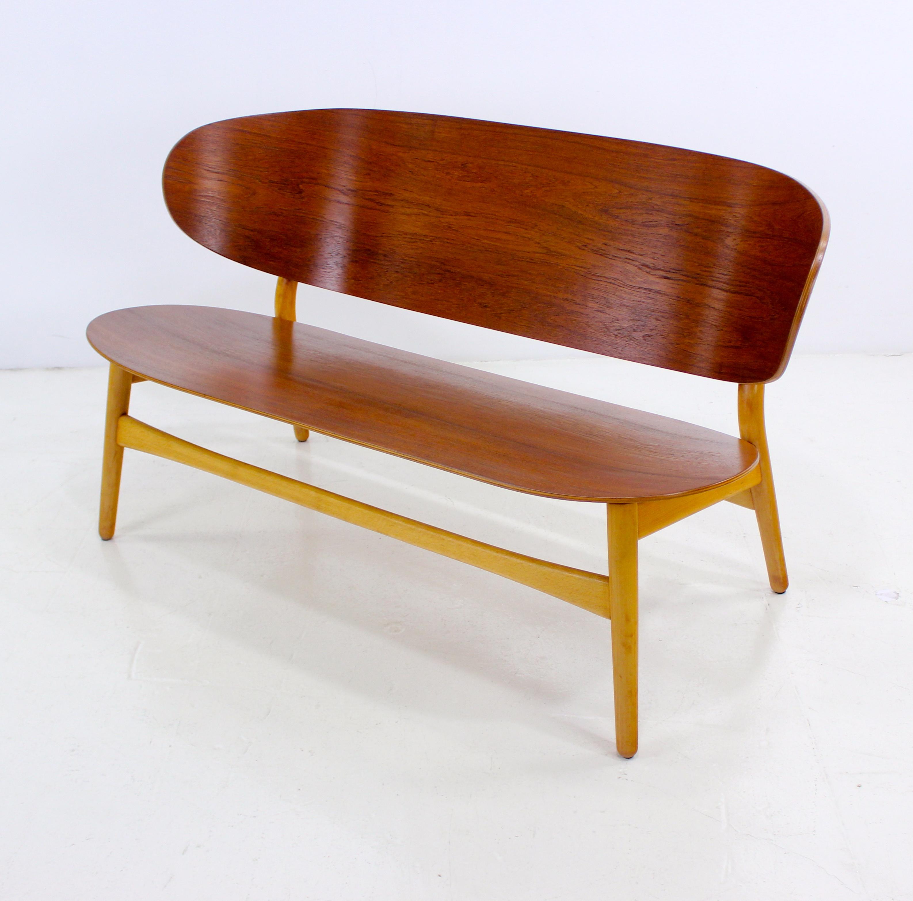 """Rare Danish Modern """"Shell"""" Settee Designed by Hans Wegner Lookmodern"""