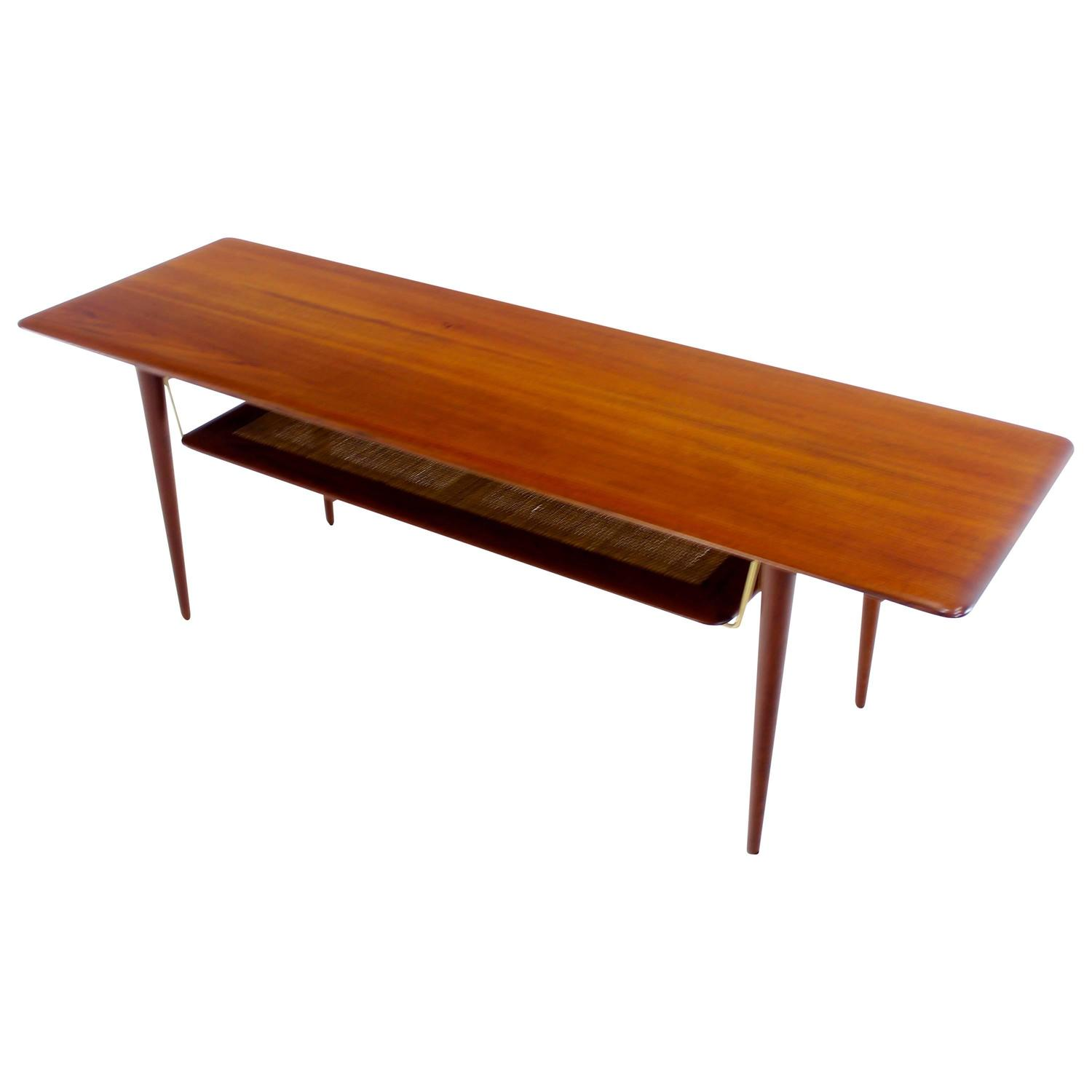 Danish Modern Solid Teak Coffee Table Designed by Peter Hvidt