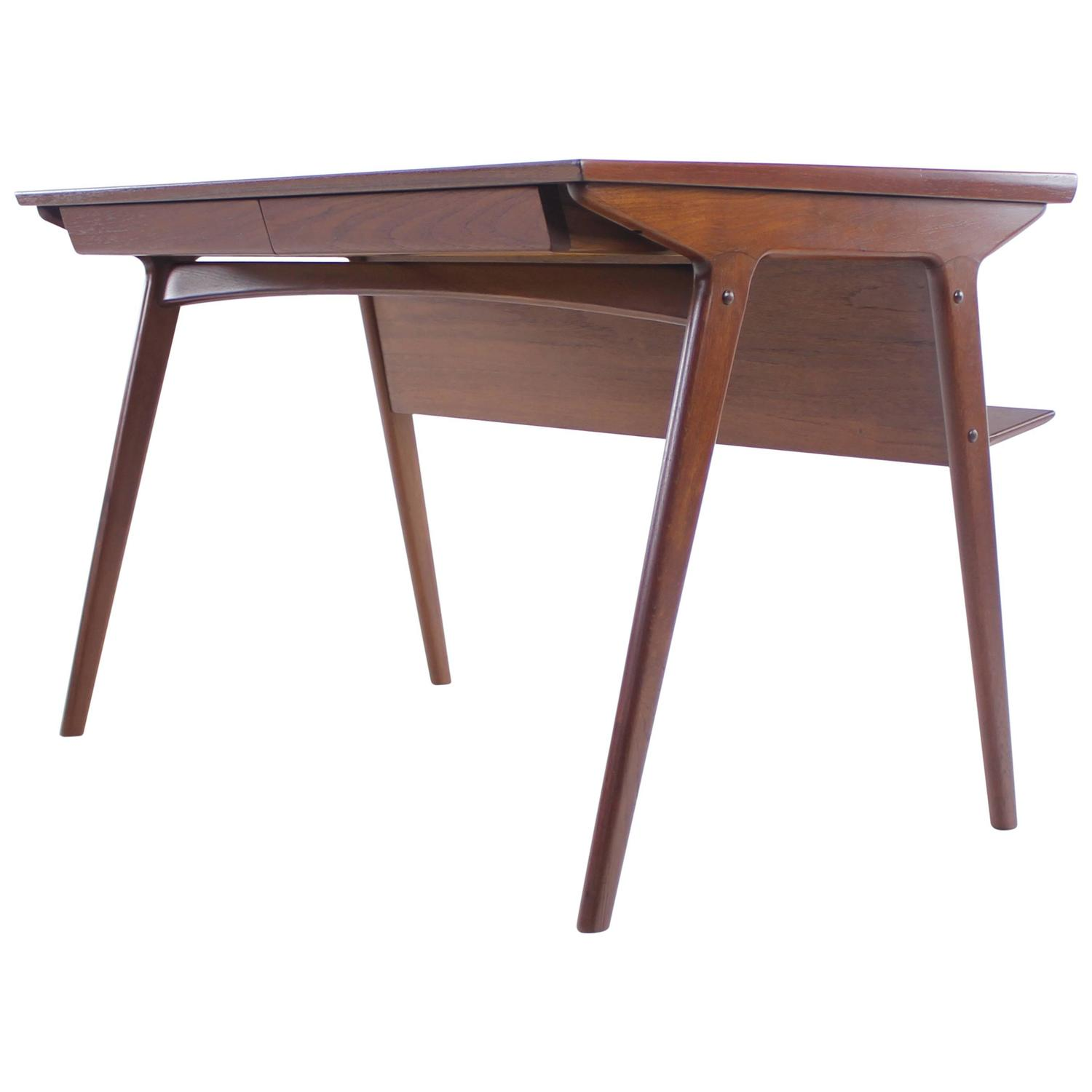 Sleek And Stylish Danish Modern Teak Desk Designed By Harry Ostergaard