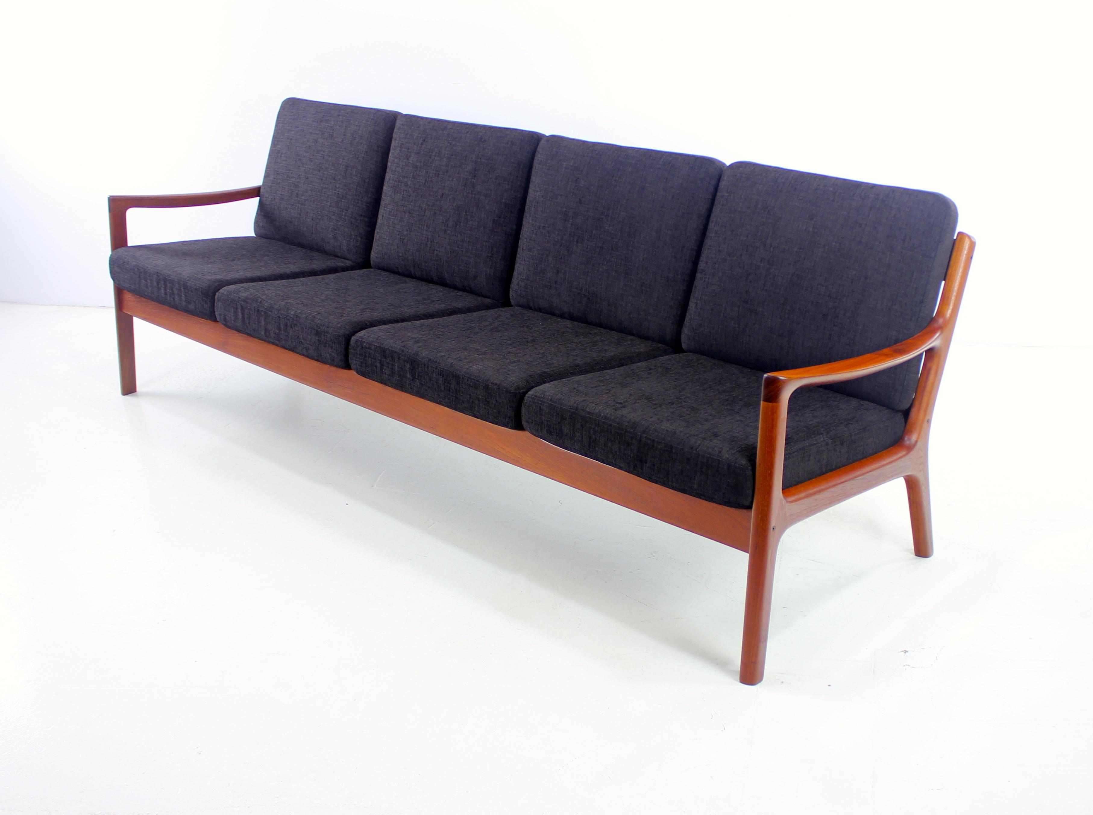 Classic Danish Modern Teak Framed Sofa Designed by Ole Wanscher