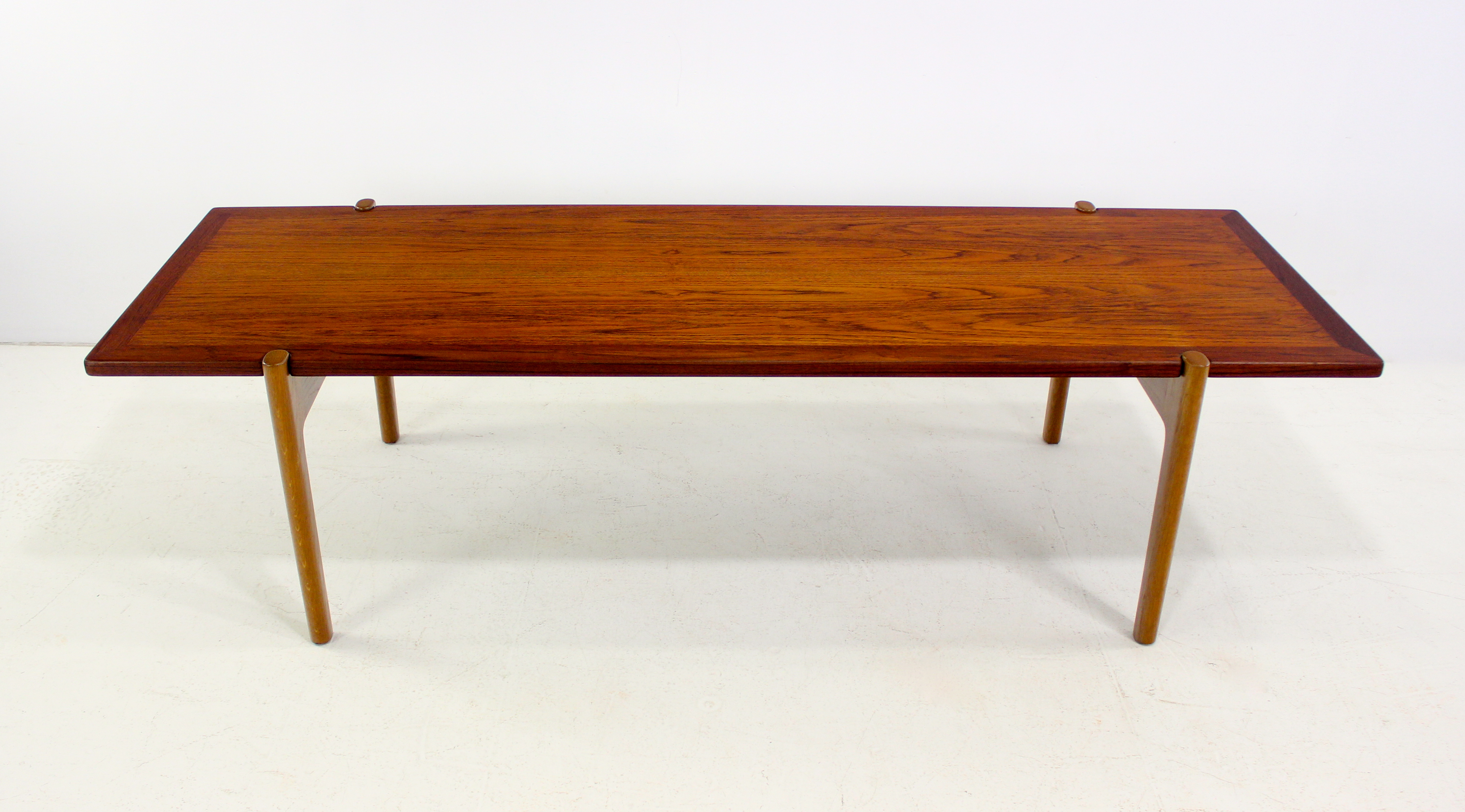 Danish Modern Teak and Oak Reversible Coffee Table Designed by