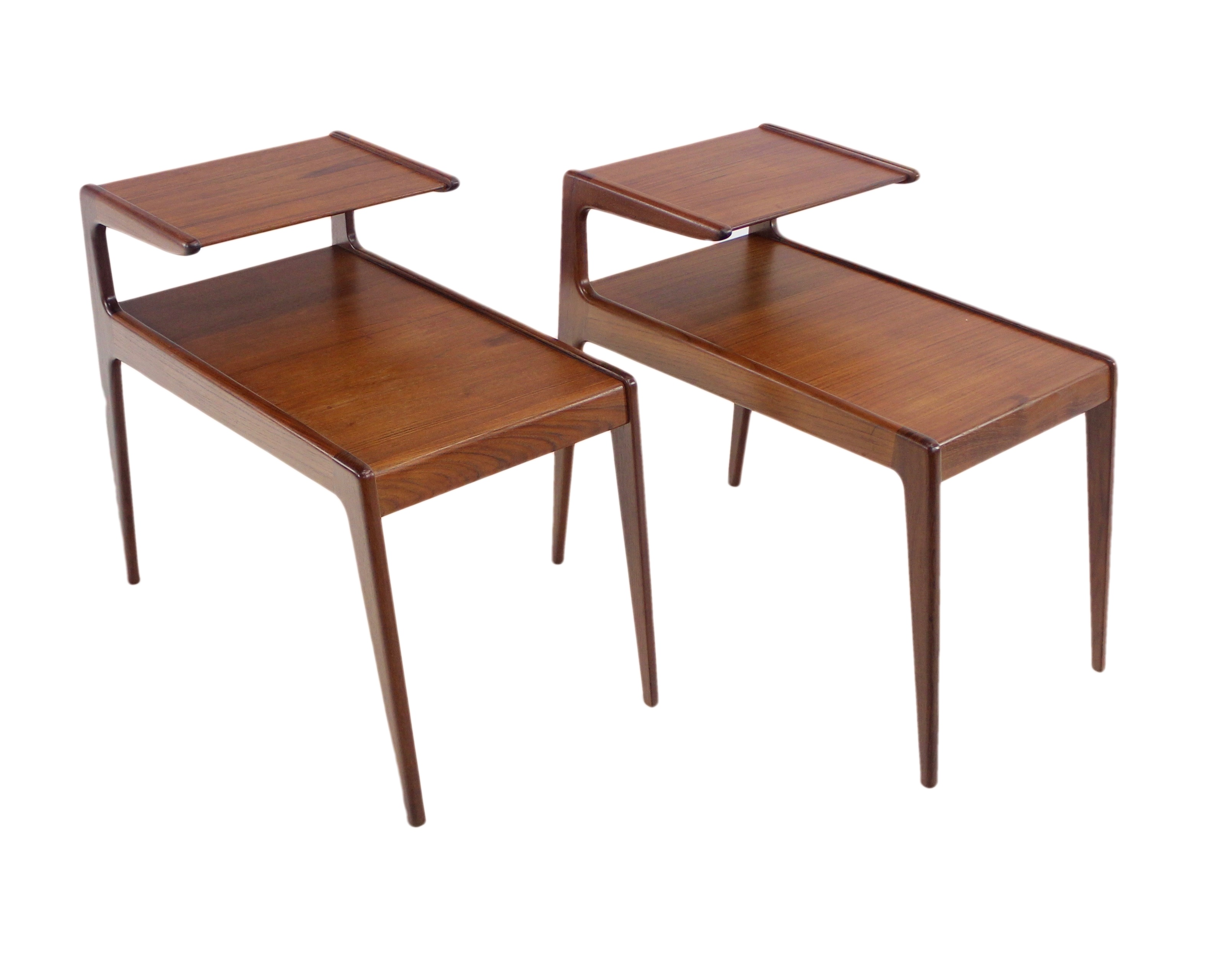 modern side tables. Pair Of Danish Modern Side Tables Designed By Kurt Ostervig