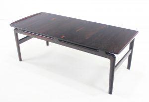 Danish Modern Solid Rosewood Coffee Table By Peter Hvidt U0026 Orla  Molgaard Nielsen