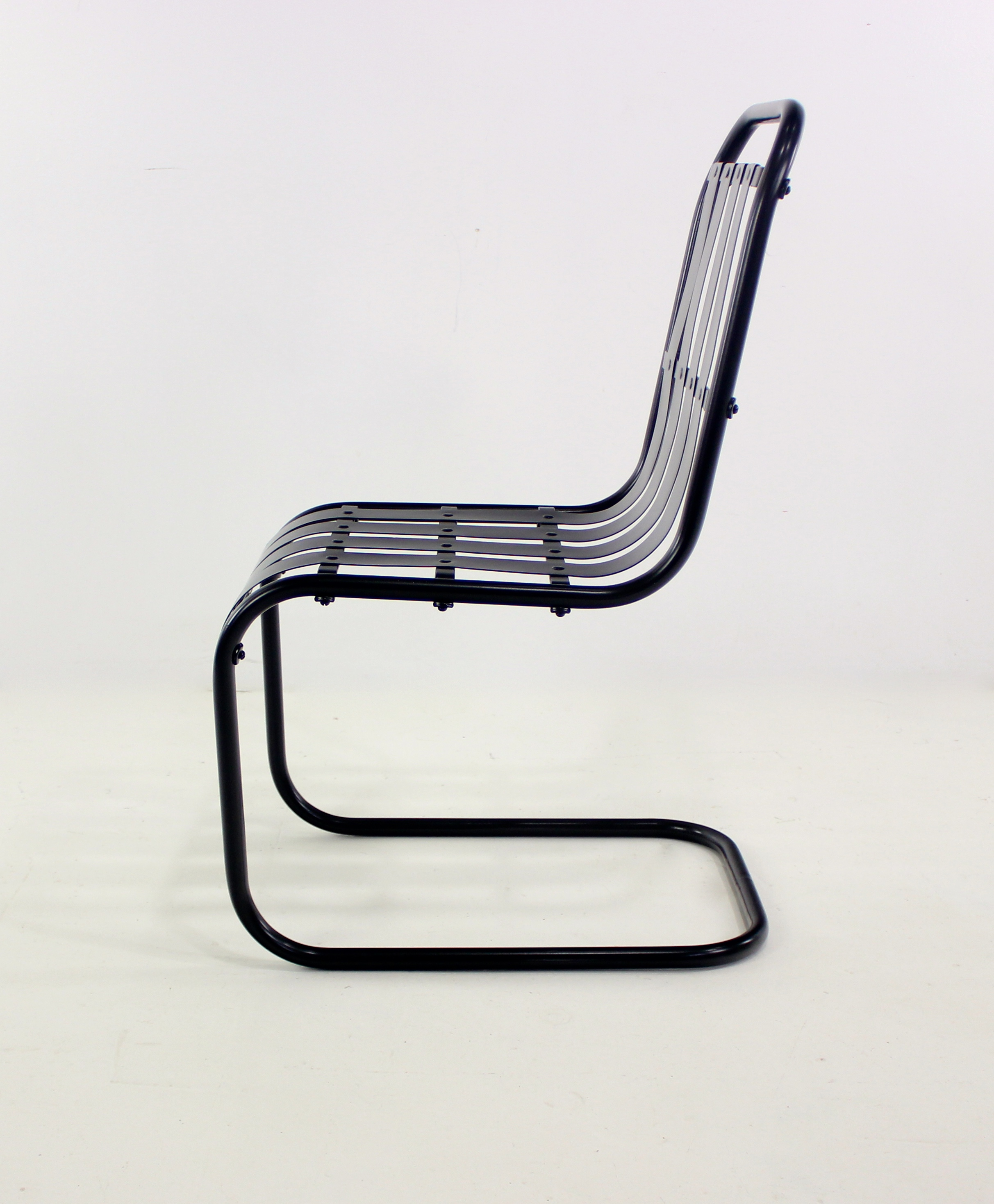 Four 1930s Streamline Moderne Indoor/Outdoor Chairs