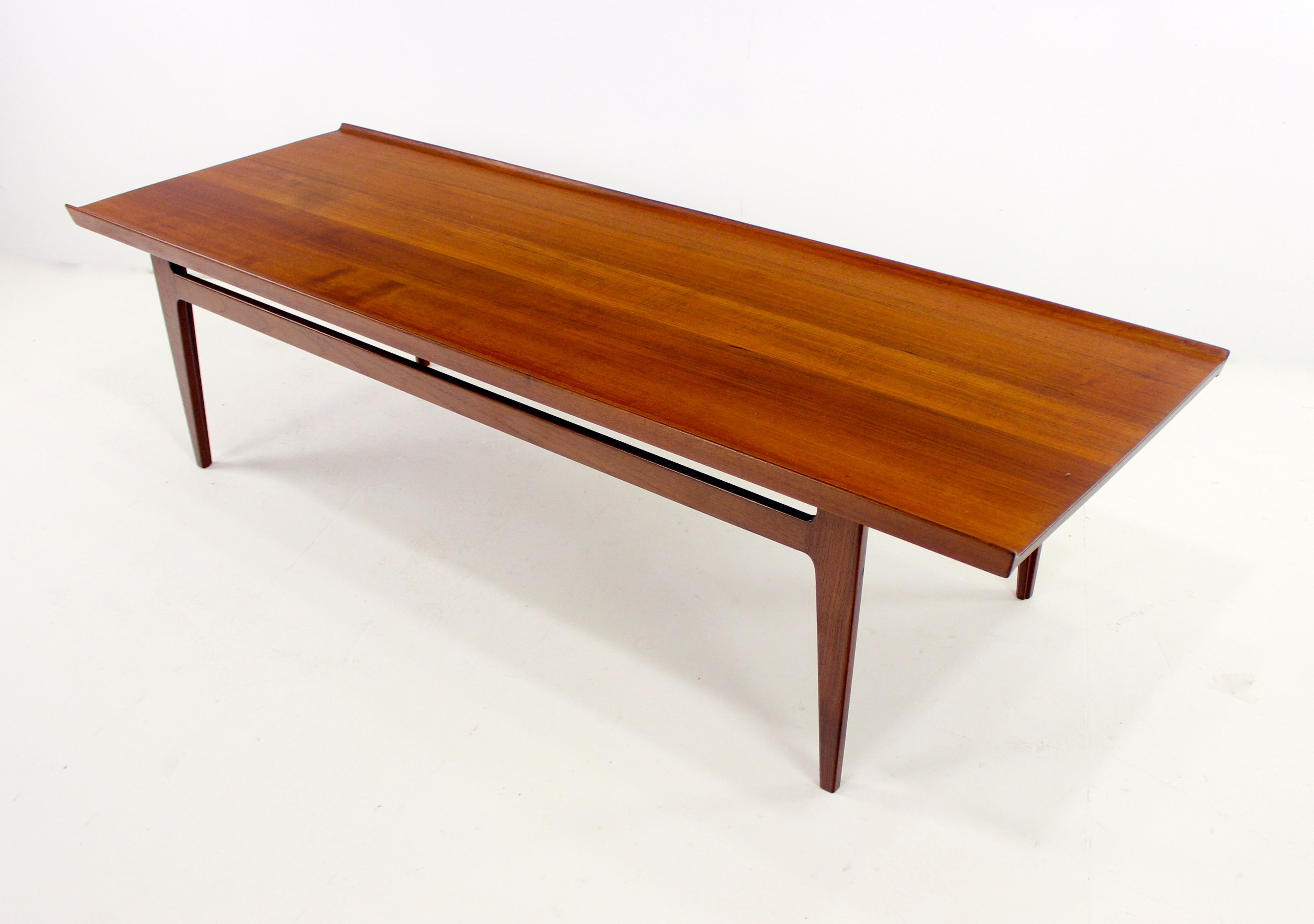 Solid Teak Danish Modern Coffee End Table Set Designed By Finn Juhl